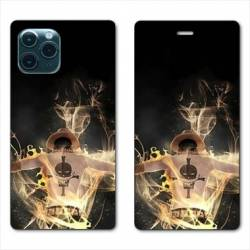 RV Housse cuir portefeuille Iphone 11 Pro Max (6,5) Manga One Piece Ace noir