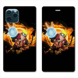 RV Housse cuir portefeuille Iphone 11 Pro Max (6,5) Manga Naruto noir