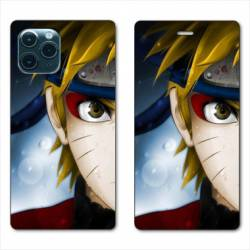RV Housse cuir portefeuille Iphone 11 Pro Max (6,5) Manga Naruto blanc