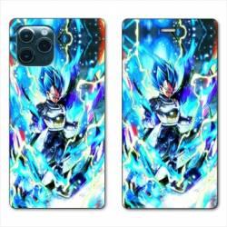 RV Housse cuir portefeuille Iphone 11 Pro Max (6,5) Manga Dragon Ball Vegeta Bleu