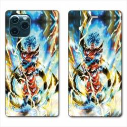 RV Housse cuir portefeuille Iphone 11 Pro Max (6,5) Manga Dragon Ball Sangoku Blanc