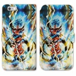 RV Housse cuir portefeuille Iphone 6 / 6s Manga Dragon Ball Sangoku Blanc