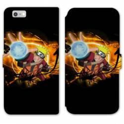 RV Housse cuir portefeuille Iphone 6 / 6s Manga Naruto noir