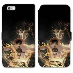 RV Housse cuir portefeuille Iphone 6 / 6s Manga One Piece Ace noir