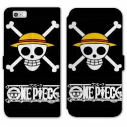 RV Housse cuir portefeuille Iphone 6 / 6s Manga One Piece tete de mort