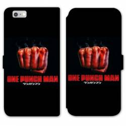 RV Housse cuir portefeuille Iphone 6 / 6s Manga One Punch Man poing