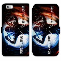 RV Housse cuir portefeuille Iphone 6 / 6s Manga SAO sword Art Online Fight