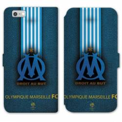 RV Housse cuir portefeuille Iphone 6 / 6s Olympique Marseille OM Bande
