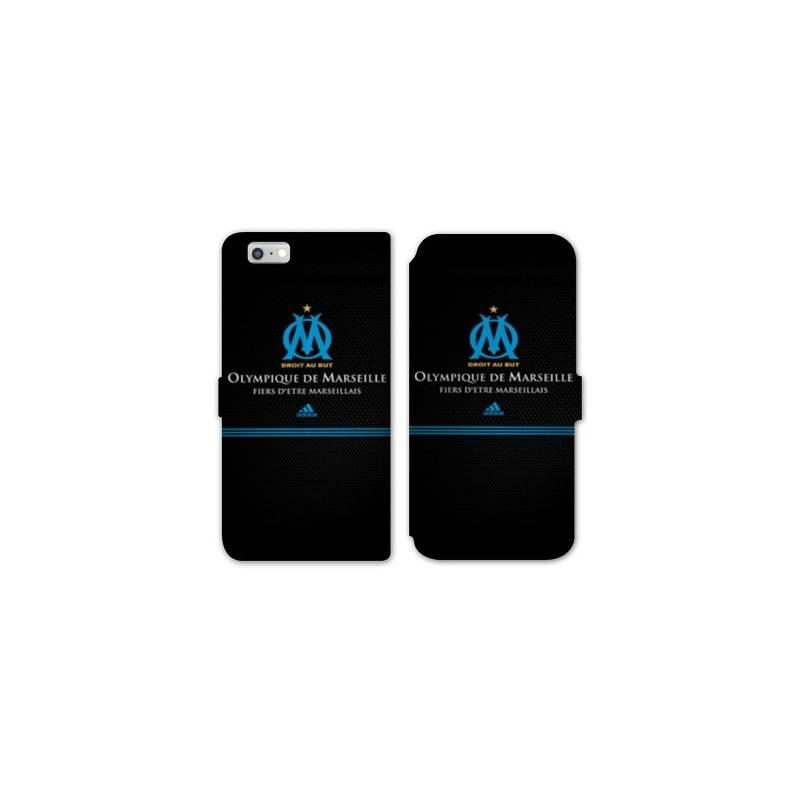 RV Housse cuir portefeuille Iphone 6 / 6s Olympique Marseille OM Fier etre Marseillais