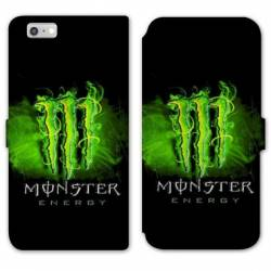 RV Housse cuir portefeuille Iphone 6 / 6s Monster Energy Vert