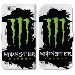 RV Housse cuir portefeuille Iphone 6 / 6s Monster Energy tache