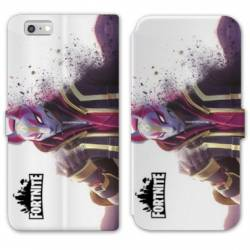RV Housse cuir portefeuille Iphone 6 / 6s Fortnite Blanc