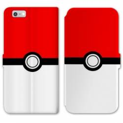 RV Housse cuir portefeuille Iphone 6 / 6s Pokemon Pokeball