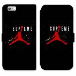RV Housse cuir portefeuille Iphone 6 / 6s Jordan Supreme Noir