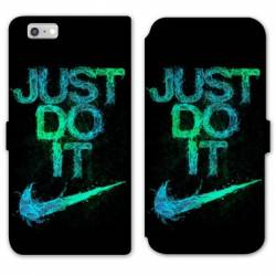 RV Housse cuir portefeuille Iphone 6 / 6s Nike Just do it