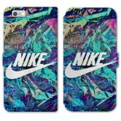 RV Housse cuir portefeuille Iphone 6 / 6s Nike Turquoise