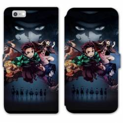 RV Housse cuir portefeuille Iphone 7 / 8 Manga Damon Slayer Noir