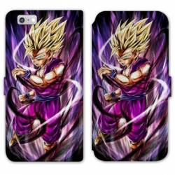 RV Housse cuir portefeuille Iphone 7 / 8 Manga Dragon Ball Sangohan violet