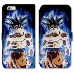 RV Housse cuir portefeuille Iphone 7 / 8 Manga Dragon Ball Sangoku Noir