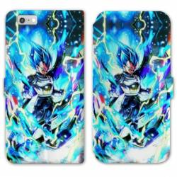 RV Housse cuir portefeuille Iphone 7 / 8 Manga Dragon Ball Vegeta Bleu