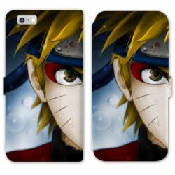 RV Housse cuir portefeuille Iphone 7 / 8 Manga Naruto blanc