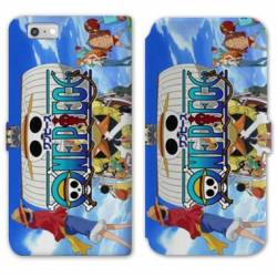 RV Housse cuir portefeuille Iphone 7 / 8 Manga One Piece Sunny