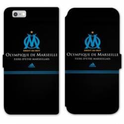 RV Housse cuir portefeuille Iphone 7 / 8 Olympique Marseille OM Fier etre Marseillais