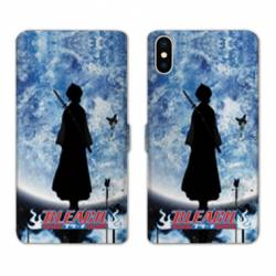 RV Housse cuir portefeuille Iphone XR Manga Bleach lune