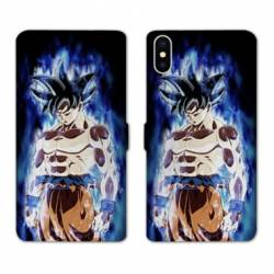 RV Housse cuir portefeuille Iphone XR Manga Dragon Ball Sangoku Noir