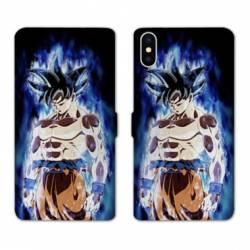 RV Housse cuir portefeuille Iphone XR Manga Dragon Ball Sangoku Noir
