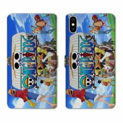 RV Housse cuir portefeuille Iphone XR Manga One Piece Sunny