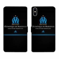 RV Housse cuir portefeuille Iphone XR Olympique Marseille OM Fier etre Marseillais
