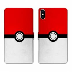 RV Housse cuir portefeuille Iphone XR Pokemon Pokeball