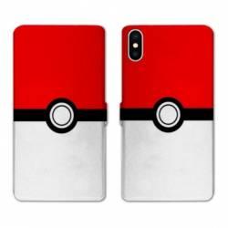 RV Housse cuir portefeuille Samsung Galaxy A10 Pokemon Pokeball