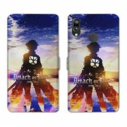 RV Housse cuir portefeuille Samsung Galaxy A40 Manga Attaque titans Soleil
