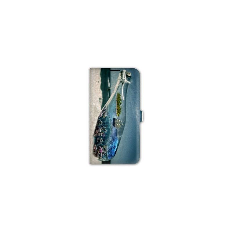 Housse cuir portefeuille Iphone 6 / 6s  Mer