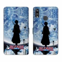 RV Housse cuir portefeuille Samsung Galaxy A40 Manga Bleach lune