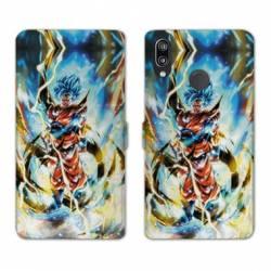 RV Housse cuir portefeuille Samsung Galaxy A40 Manga Dragon Ball Sangoku Blanc