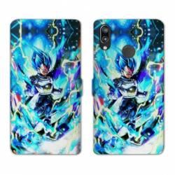 RV Housse cuir portefeuille Samsung Galaxy A40 Manga Dragon Ball Vegeta Bleu