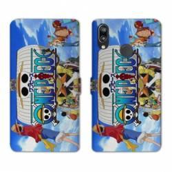 RV Housse cuir portefeuille Samsung Galaxy A40 Manga One Piece Sunny
