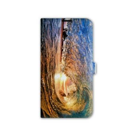 Housse cuir portefeuille cuir Iphone 6  Mer