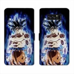 RV Housse cuir portefeuille Samsung Galaxy S10 Manga Dragon Ball Sangoku Noir