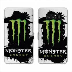 RV Housse cuir portefeuille Samsung Galaxy S10 Monster Energy tache