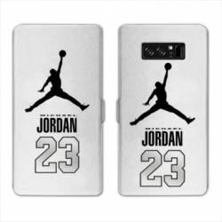 RV Housse cuir portefeuille Samsung Galaxy S10 Jordan 23 Blanc