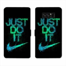 RV Housse cuir portefeuille Samsung Galaxy S10 Nike Just do it