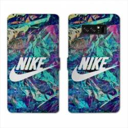RV Housse cuir portefeuille Samsung Galaxy S10 Nike Turquoise