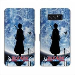 RV Housse cuir portefeuille Samsung Galaxy S10e Manga Bleach lune