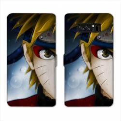RV Housse cuir portefeuille Samsung Galaxy S10e Manga Naruto blanc