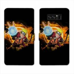 RV Housse cuir portefeuille Samsung Galaxy S10e Manga Naruto noir