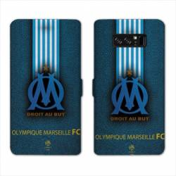 RV Housse cuir portefeuille Samsung Galaxy S10e Olympique Marseille OM Bande